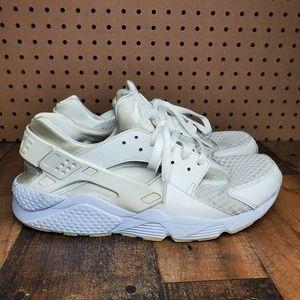 Nike Air Huarache Triple White Men's Athletic Sneakers Size 12 318429-111